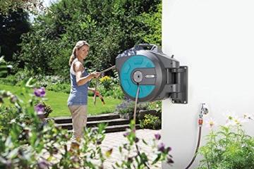komfortable Gartenbewässerung mit Gardena Schlauchbox roll-up